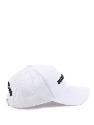 Dsquared2: hats & caps - Logo embroidery white baseball cap
