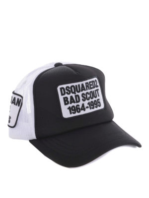 Dsquared2: hats & caps - Logo patches two-tone baseball cap