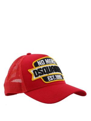 DSQUARED2: cappelli - Cappellino rosso No Mercy