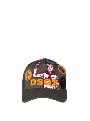 Dsquared2: hats & caps online - Baseball cap with patches