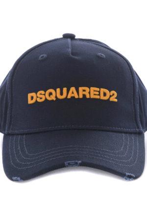 Dsquared2: hats & caps online - D2 cotton baseball cap