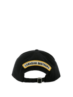 Dsquared2: hats & caps online - DSQ black baseball cap