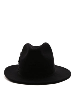 Dsquared2: hats & caps online - Embellished cotton hat