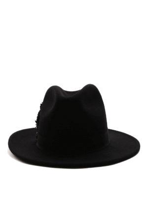 Dsquared2: hats & caps online - Embellished cotton hat