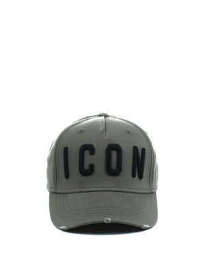 Dsquared2: hats & caps online - Icon army green baseball cap