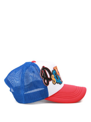 Dsquared2: hats & caps online - Multicolour patches baseball cap