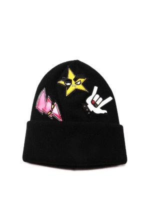 Dsquared2: hats & caps - Punk patches hat