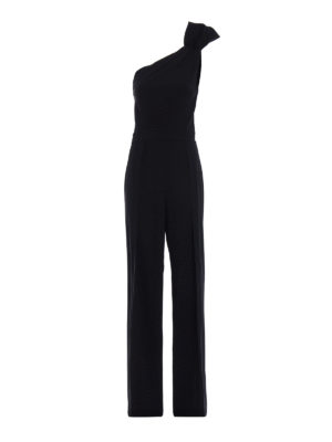 Dsquared2: jumpsuits - Crepe one shoulder jumpsuit