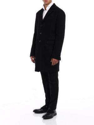 Dsquared2: knee length coats online - Wool blend cloth straight coat