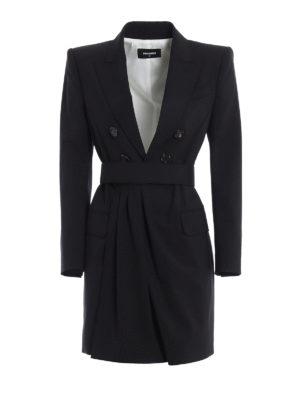 Dsquared2: knee length dresses - Blazer style dress