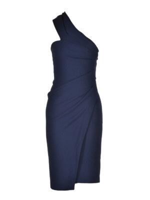 Dsquared2: knee length dresses - Draped one-shoulder dress