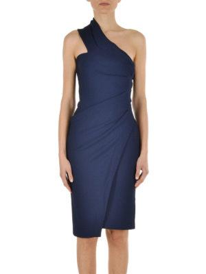 Dsquared2: knee length dresses online - Draped one-shoulder dress