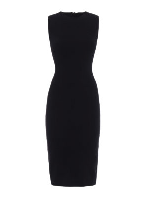Dsquared2: knee length dresses - Wool jersey sleeveless sheath dress