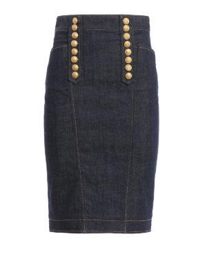 Dsquared2: Knee length skirts & Midi - Denim livery skirt