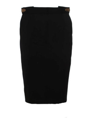 Dsquared2: Knee length skirts & Midi - HIGH RISE WOOL PENCIL SKIRT