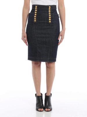 Dsquared2: Knee length skirts & Midi online - Denim livery skirt