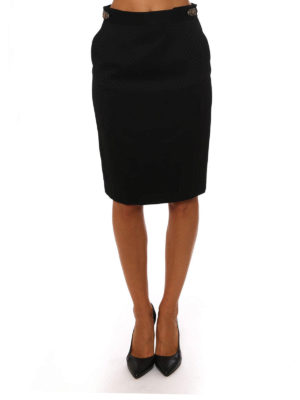 Dsquared2: Knee length skirts & Midi online - HIGH RISE WOOL PENCIL SKIRT