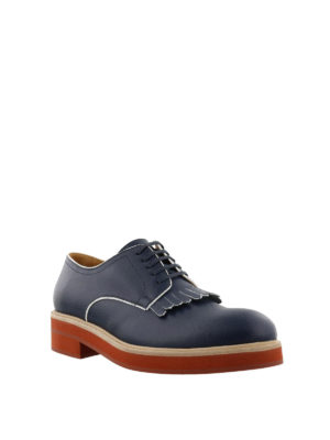 Dsquared2: lace-ups shoes online - Fringed lace-up Derby shoes