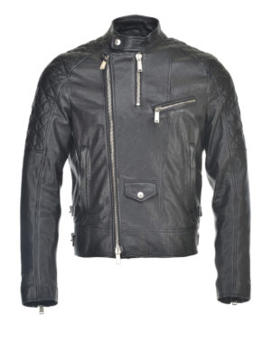 Dsquared2: leather jacket - Leather biker jacket
