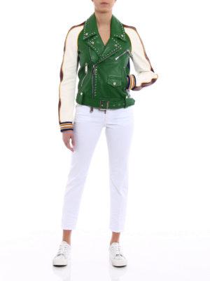 Dsquared2: leather jacket online - Scout Studded Biker Jacket