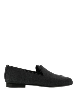 Dsquared2: Loafers & Slippers - Leather sole woven fabric loafers