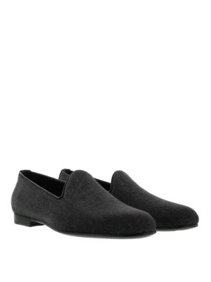 Dsquared2: Loafers & Slippers online - Leather sole woven fabric loafers