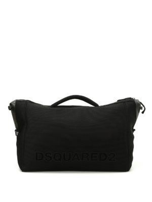 Dsquared2: Luggage & Travel bags - Black mesh neoprene carryall