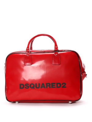 Dsquared2: Luggage & Travel bags - Faux leather logo duffle bag