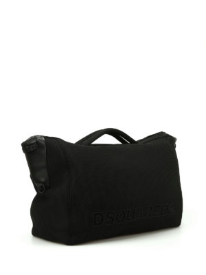 Dsquared2: Luggage & Travel bags online - Black mesh neoprene carryall