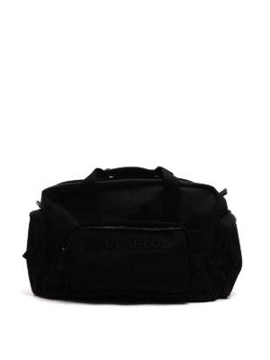 Dsquared2: Luggage & Travel bags - Tom logo nylon duffle bag