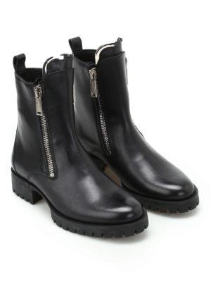 DSQUARED2: tronchetti online - Stivali Zip up in pelle nera