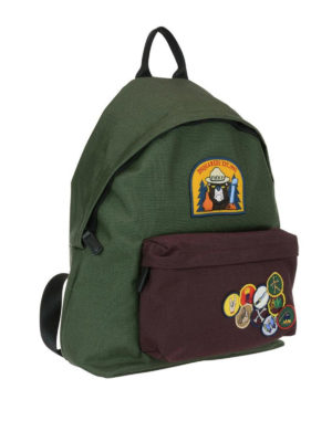DSQUARED2: zaini online - Zaino Bad Scout verde e marrone