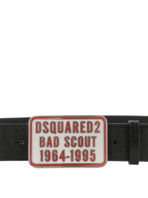 DSQUARED2: cinture online - Cintura in pelle Bad Scout