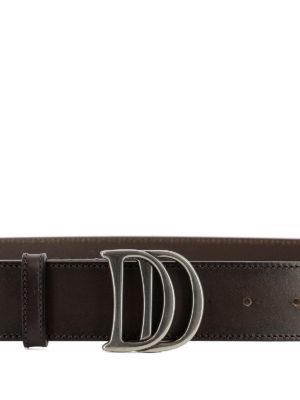DSQUARED2: cinture online - Cintura in pelle con fibbia DD