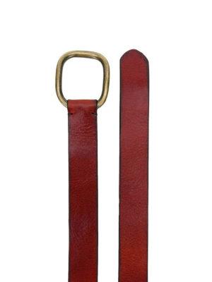 DSQUARED2: cinture online - Cintura in pelle con fibbia in ottone