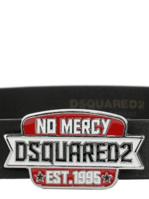 DSQUARED2: cinture online - Cintura in pelle con fibbia No Mercy