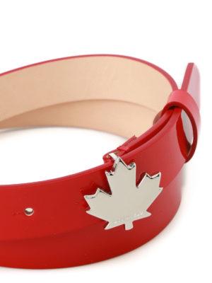 DSQUARED2: cinture online - Cintura in vernice rossa