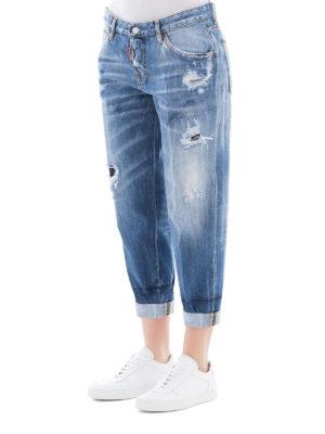 DSQUARED2: Boyfriend online - Jeans Light Blue Marks Hockney