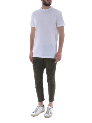 DSQUARED2: pantaloni casual online - Pantaloni cargo in cotone verdone