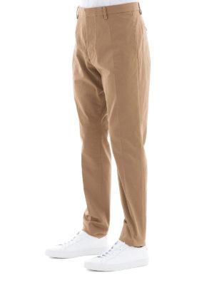 DSQUARED2: pantaloni casual online - Pantaloni chino in cotone beige