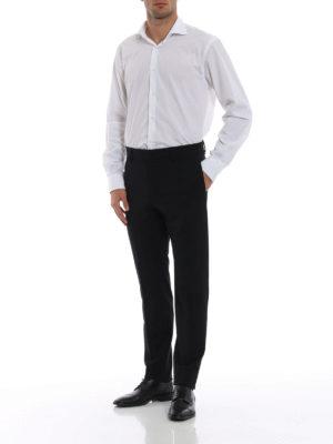 DSQUARED2: pantaloni casual online - Pantaloni chino in twill di lana