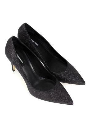 DSQUARED2: scarpe décolleté online - Décolleté Basic a punta glitterate