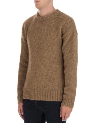 DSQUARED2: maglia collo rotondo online - Maglione in alpaca marrone