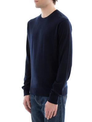 DSQUARED2: maglia collo rotondo online - Girocollo in leggerissima lana