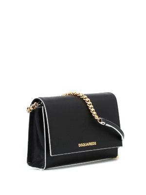 DSQUARED2: borse a tracolla online - Piccola tracolla in pelle nera
