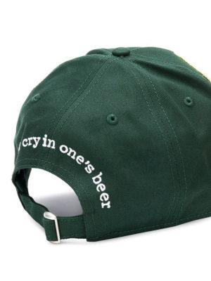 DSQUARED2: cappelli online - Cappellino da baseball verde con patch DSQ2