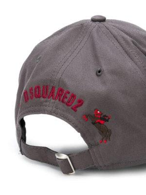DSQUARED2: cappelli online - Capellino con ricamo Cowboy