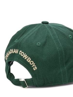 DSQUARED2: cappelli online - Cappellino verde bosco con patch logo