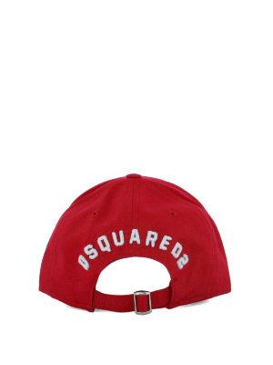 DSQUARED2: cappelli online - Cappello da baseball Icon rosso