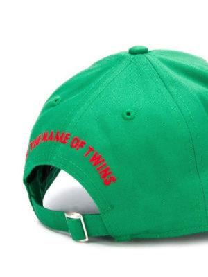 DSQUARED2: cappelli online - Cappellino verde chiaro con patch logo